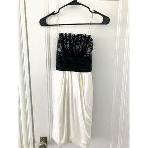City Triangles Black and White Cocktail Dress - Sm